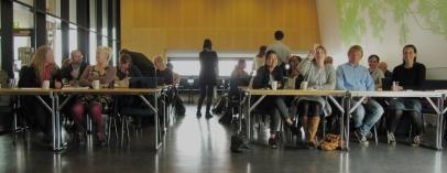 Seminarsalen med fellestjenestene på første rad